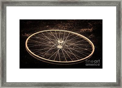 Wheel Framed Print by Sinisa Botas