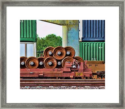 Wheel Stack Framed Print