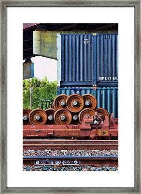 Wheel Stack II Framed Print