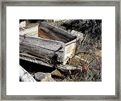 Wheelbarrow Of Time Past Framed Print