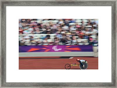 Wheelchair 800m Race, London Framed Print