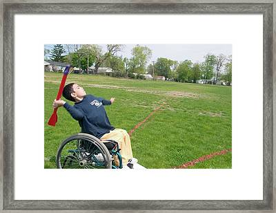 Wheelchair Athletics Framed Print