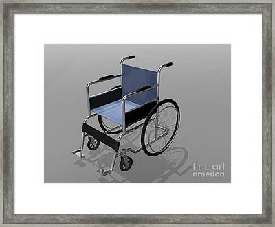 Wheelchair Illustration Framed Print by Stocktrek Images