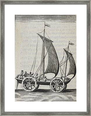 Wheeled Sail Boat Framed Print by British Library