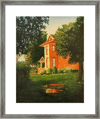 Wheeler Farmhouse Framed Print by Robert Jenson