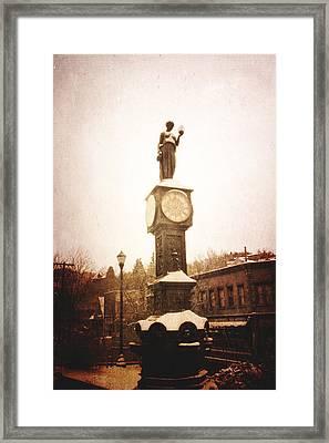Wheeler Town Clock Framed Print by Steven  Taylor