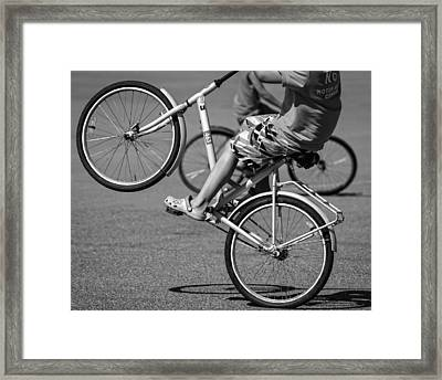 Framed Print featuring the photograph Wheelie Boys by Ari Salmela