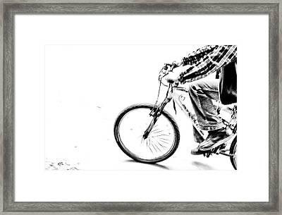 Wheelin Framed Print