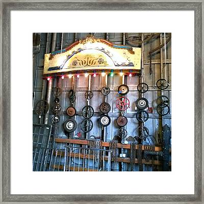 Wheels In Your Head Go Round Framed Print