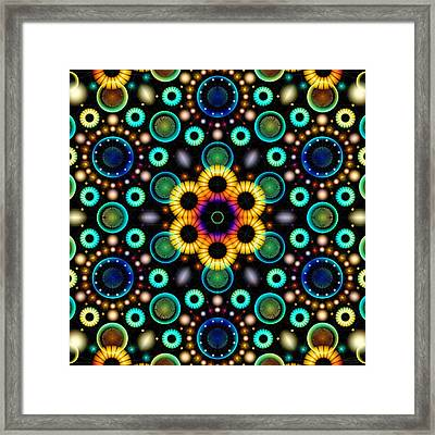 Wheels Of Light Framed Print
