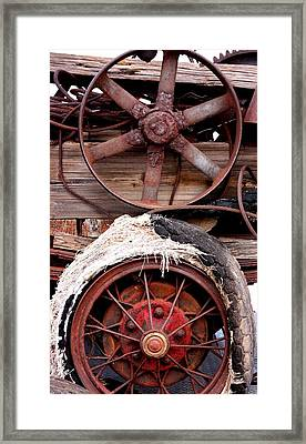 Wheels Of Misfortune Framed Print by Joe Kozlowski