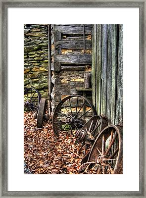 Wheels Of Time Framed Print by Benanne Stiens