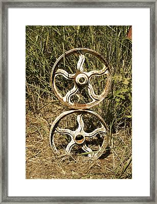 Framed Print featuring the photograph Wheels Of Time by Roseann Errigo