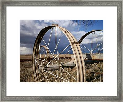 Wheels Of Water Framed Print