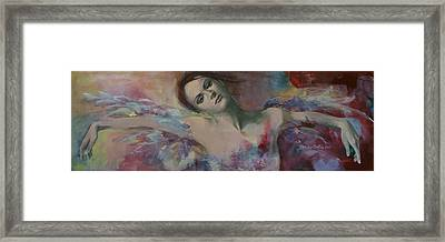 When A Dream Has Colored Wings Framed Print by Dorina  Costras
