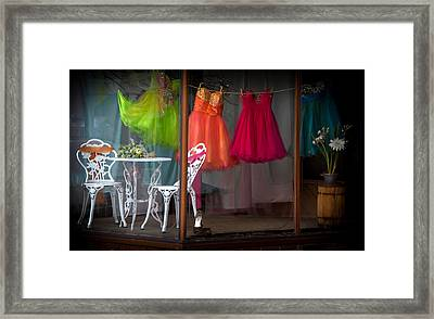 When A Woman Dreams Framed Print by Karen Wiles