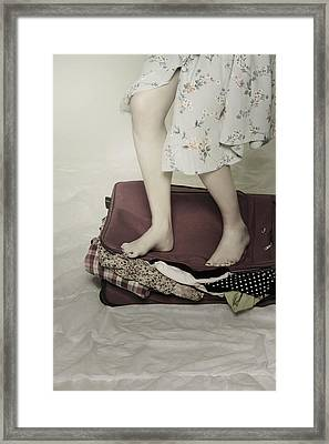 When A Woman Travels Framed Print