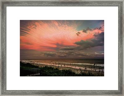 When Angels Blush Framed Print