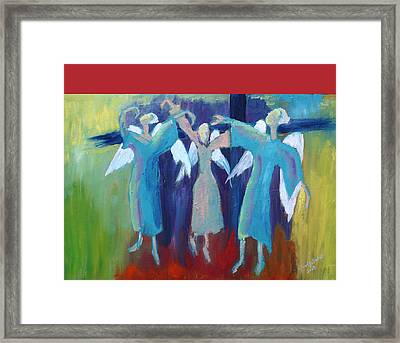 When Angels Dance Framed Print