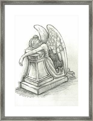 When Angels Weep 2 Framed Print by Lina Zolotushko