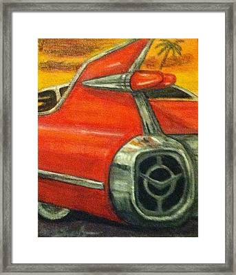 When Cars Were Art Framed Print by Larry E  Lamb