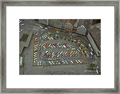 When Cars Were Colorful 1980s Framed Print by David Davies