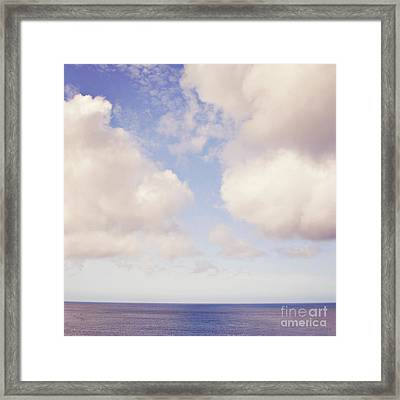 When Clouds Meet The Sea Framed Print by Lyn Randle