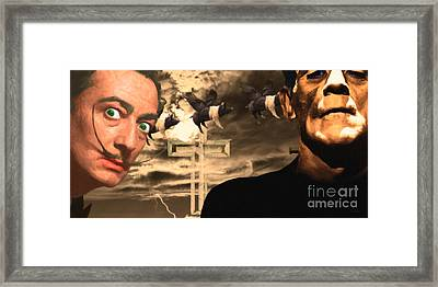 When Dali Met Frankenstein 20141215 Framed Print by Wingsdomain Art and Photography