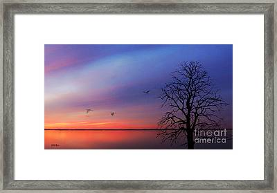 When Day Kisses Night Framed Print by Betty LaRue