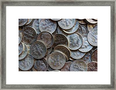 When Dimes Were Made Of Silver Framed Print