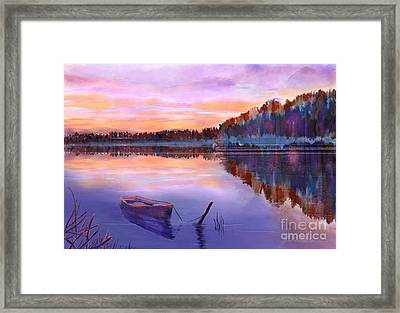 When Evening Falls  Framed Print by Joan A Hamilton
