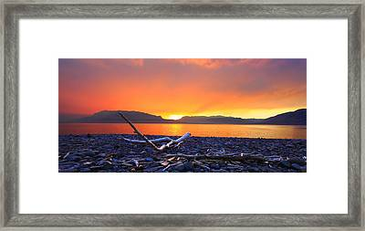 When Evening Gilds The Skies Framed Print