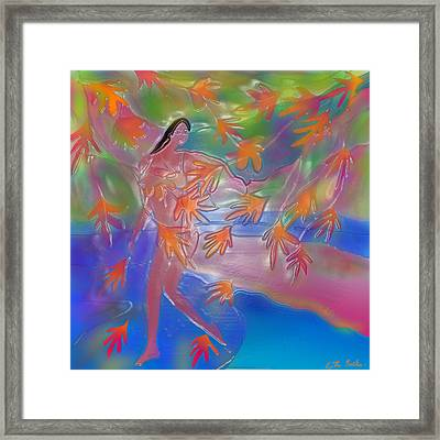When Every Leaf Is A Flower Framed Print