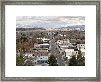 When Fall Turns To Winter Framed Print