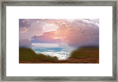 When Heaven Breaks - Surrealism Framed Print