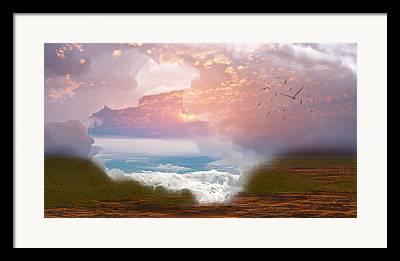Monsoon Digital Art Framed Prints