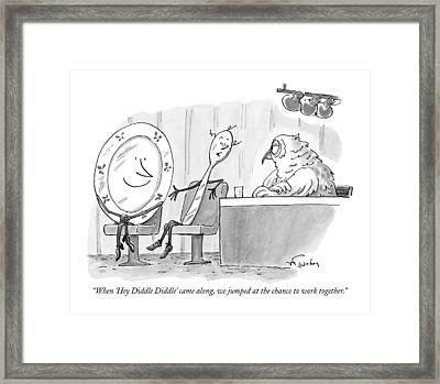 When 'hey Diddle Diddle' Came Framed Print by Mike Twohy