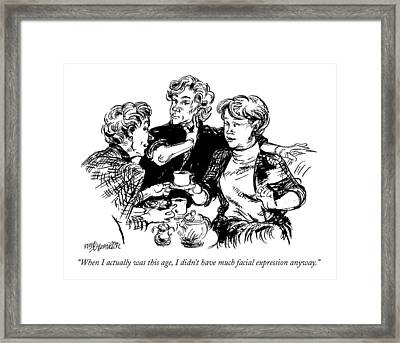 When I Actually Was This Age Framed Print by William Hamilton