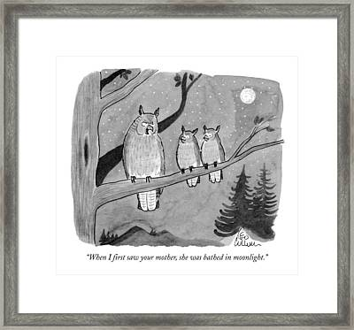 When I First Saw Your Mother Framed Print by Leo Cullum