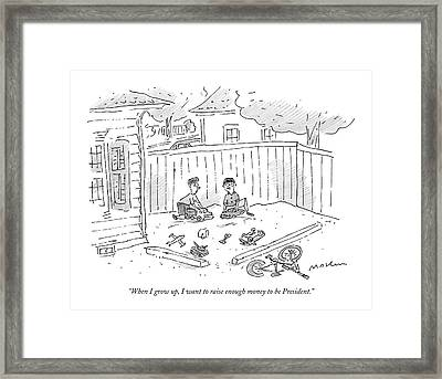 When I Grow Framed Print by Michael Maslin