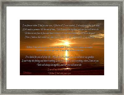 When I Look Into Your Eyes Framed Print