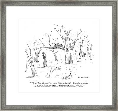 When I Look Framed Print by Michael Maslin