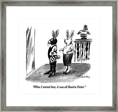 When I Started Here Framed Print
