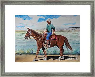 When I Was Young Framed Print by John W Walker