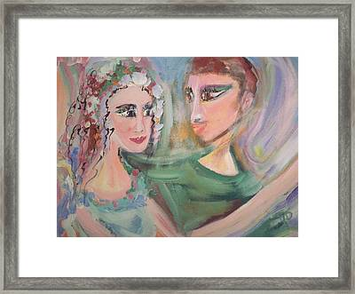 When Im Close To You Framed Print by Judith Desrosiers
