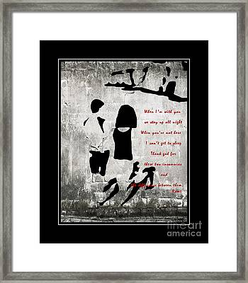 When I'm With You Framed Print by Barbara Griffin