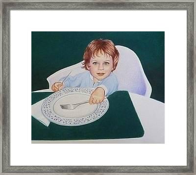 When Is Dinner Framed Print by Constance DRESCHER