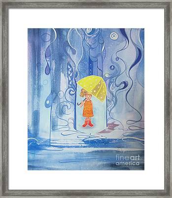 When It Rains It Pours Framed Print by Maya Simonson