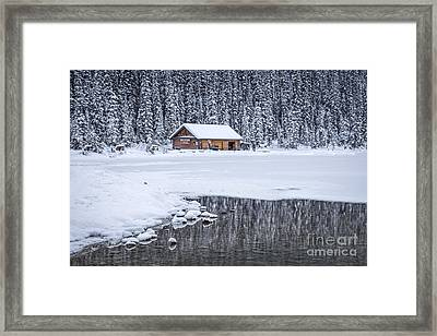When It Snows Outside Framed Print by Evelina Kremsdorf