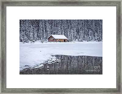 When It Snows Outside Framed Print